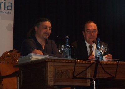 con arlindo, congreso patrimonio cultural inmaterial galego sarria 3 2010